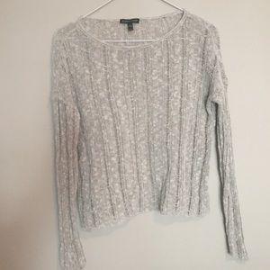 Eileen Fisher Open Weave Cropped Sweater